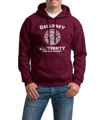 gallifrey university unisex pullover hoodie maroon s to 3xl doctor who