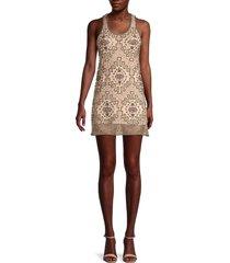 raga women's banita beaded dress - nude - size m