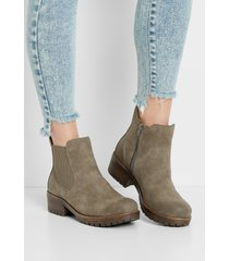 maurices womens anna side gore ankle bootie gray
