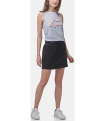 marc new york performance women's french-terry with side pockets lounge skirt