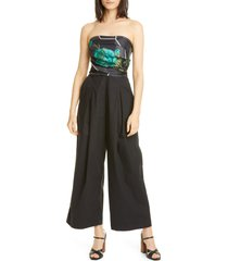 women's rachel comey tillson wide leg jumpsuit, size 00 - black