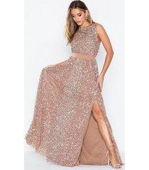 maya all over sequin maxi dress paljettklänningar