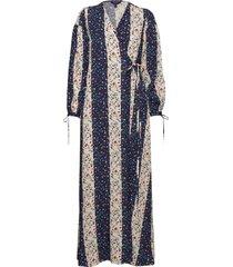 d1. liberation flower wrap dress dresses wrap dresses blå gant