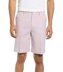 berle pleated seersucker shorts, size 32 in garnet at nordstrom