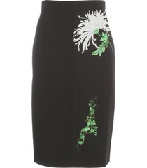 n.21 pencil skirt w/ floral patches