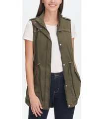 levi's women's drawstring utility vest