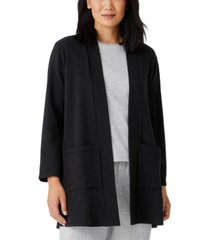 eileen fisher organic open-front jacket, regular and plus sizes