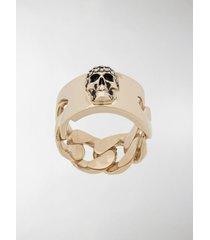 alexander mcqueen skull motif ring