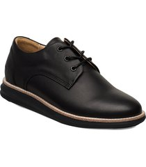 380g wa black leather snörade skor låga svart gram