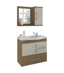 conjunto de banheiro fortaleza carvalho e off white