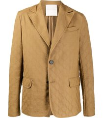 marco de vincenzo relaxed fit blazer - brown