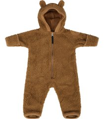 molo brown jumpsuit for babykids with patch