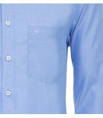 seidensticker heren overhemd blauw fil-à-fil ml7 borstzak modern fit