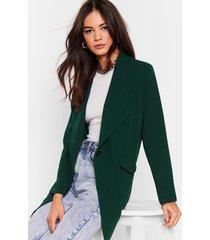 womens act professional oversized blazer - green