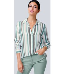 blouse alba moda offwhite::salie::grijs