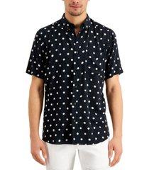 hugo men's ekilio relaxed-fit dot-print shirt