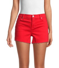 hudson women's gracie cut-off shorts - rose - size 27 (4)