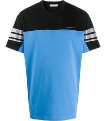 blue & black color block t-shirt