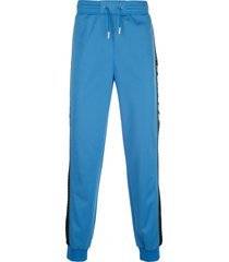 givenchy contrasting strap track trousers - blue