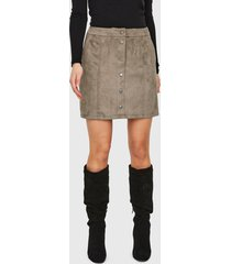 falda vero moda gris - calce regular