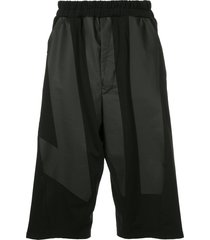 niløs drop crotch shorts - black