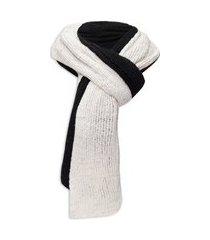 cachecol masculino tricot pesponto - preto