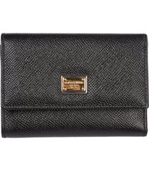 dolce & gabbana wallet genuine leather coin case holder purse card