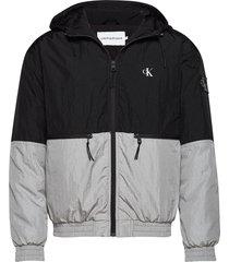 silver blocking jacket dun jack grijs calvin klein jeans