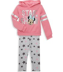 little girl's 2-piece minnie mouse star of the show hoodie & pants set