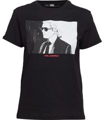 karl legend colorblock t-shirt t-shirts & tops short-sleeved svart karl lagerfeld