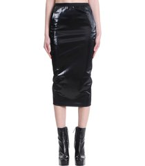 rick owens lilies skirt in black cotton