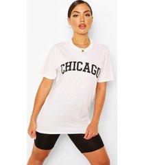 chicago slogan oversized t-shirt, white