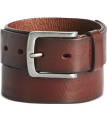 perry ellis men's better brown leather belt