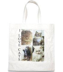 'i love cats' tote bag