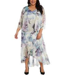 r & m richards plus size floral-print dress & jacket