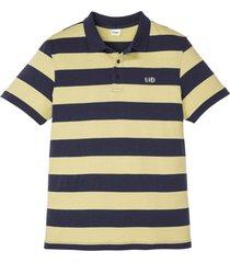 polo a maniche corte con ricamo (giallo) - john baner jeanswear