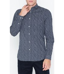 premium by jack & jones jprblackpool shirt l/s au19 sts skjortor mörk blå