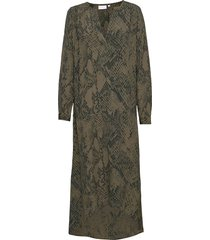 dress w. v-neck and long sleeves maxi dress galajurk groen coster copenhagen