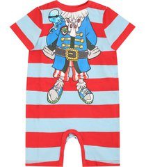 stella mccartney kids multicolor rompers for babyboy with pirate