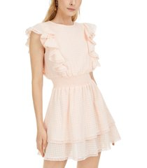 sage the label ruffled fit & flare dress