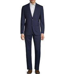 saks fifth avenue men's striped wool suit - navy stripe - size 40 s
