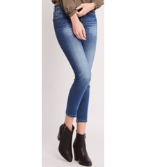 flying monkey mid rise 3d front and back whiskers crop skinny jeans
