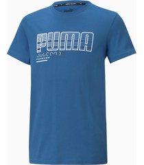 active sports t-shirt met grafische print jongeren, maat 128 | puma
