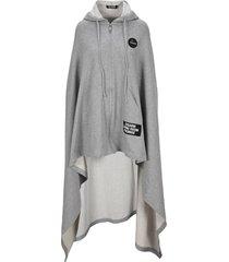 raf simons medium length uni fleece cape