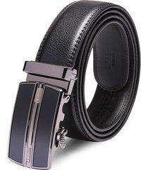 120cm uomo fibbia automatica in pelle casual business nero cintura