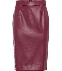 gonna longuette in similpelle (rosso) - bodyflirt boutique