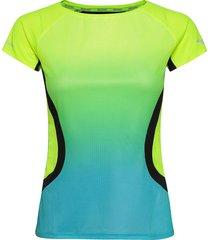aero tee t-shirts & tops short-sleeved multi/mönstrad mizuno
