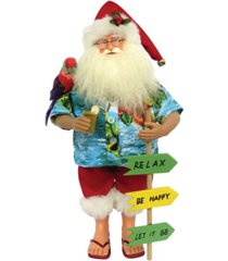 "santa's workshop 15.5"" buffet beach santa claus"