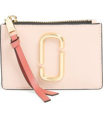women's marc jacobs snapshot leather id wallet - pink
