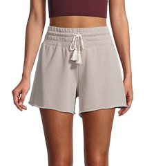 knit drawstring shorts